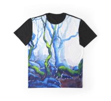 Trees in Padley Gorge, Derbyshire. Graphic T-Shirt