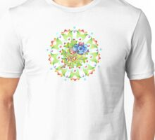 Maine Blueberry Red Gingham Mandala Unisex T-Shirt
