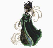 Gold Gilded Leda: A Bollywood Geisha One Piece - Short Sleeve