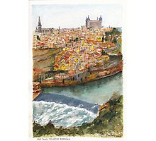 River Tagus Weir, Toledo Photographic Print