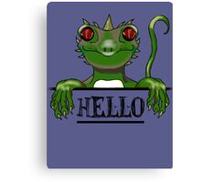 Monster say hello modern gifts Canvas Print
