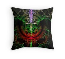Alien Skull Throw Pillow