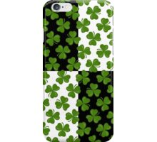 Irish Shamrocks on Black and White iPhone Case/Skin