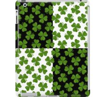 Irish Shamrocks on Black and White iPad Case/Skin
