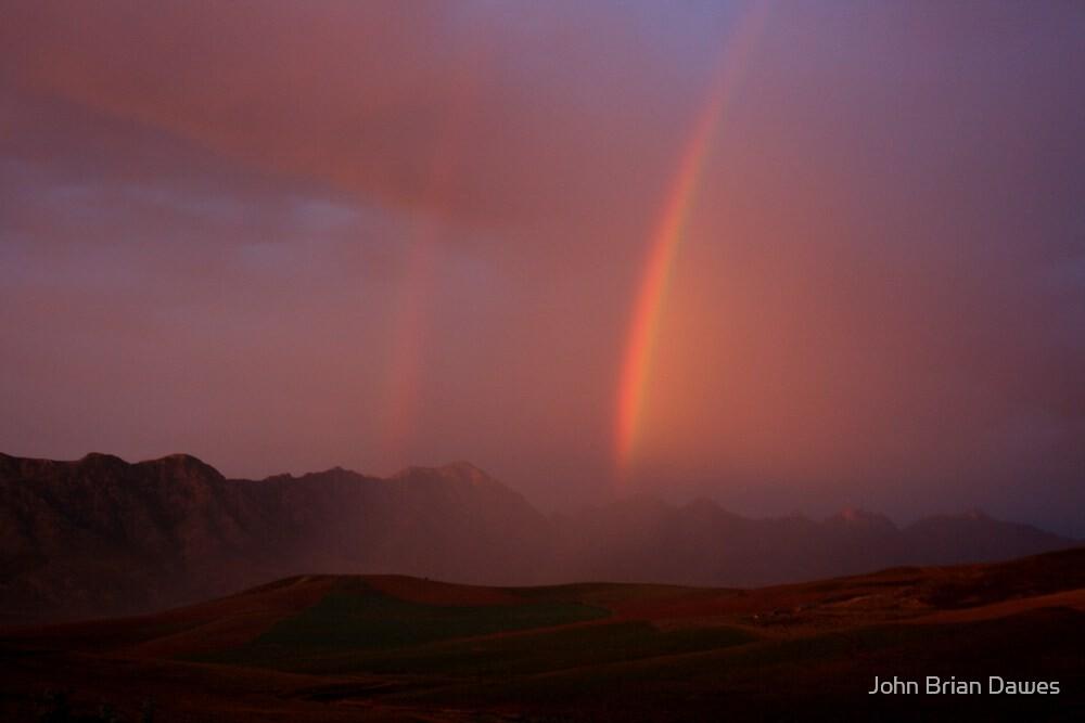 Rainbow Western Cape SA by John Brian Dawes