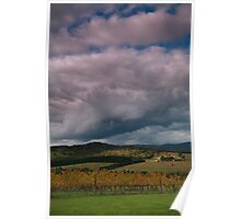 Cloud Formation at DeBortelli Winery  Poster