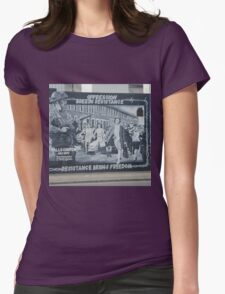 Political Catholic Murals Womens Fitted T-Shirt