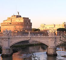 View on Castel San Angelo, Roma by Ben Fatma Marc