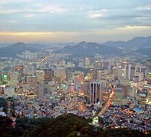 Sunset in Seoul by Anthony Woolley