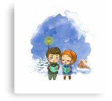 Caroling Parrish&Lydia Canvas Print