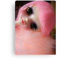 Pink Cute Tangkou Doll Photo Canvas Print