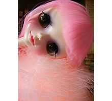 Pink Cute Tangkou Doll Photo Photographic Print