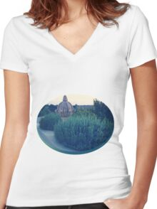 Stonework in Nature Women's Fitted V-Neck T-Shirt