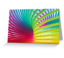 Rainbow Slinky 7 Greeting Card