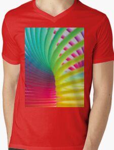 Rainbow Slinky 7 Mens V-Neck T-Shirt