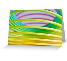 Rainbow Slinky 8 Greeting Card