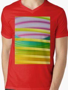 Rainbow Slinky 8 Mens V-Neck T-Shirt