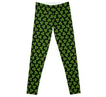 Irish Shamrocks on Black Leggings