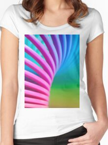 Rainbow Slinky 10 Women's Fitted Scoop T-Shirt