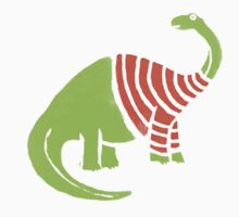 Brontosaurus in a Sweater  One Piece - Long Sleeve