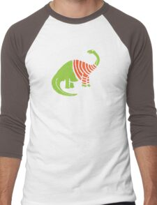 Brontosaurus in a Sweater  Men's Baseball ¾ T-Shirt