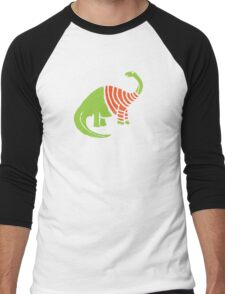 Brontosaurus in a Sweater  Men's Baseball ¾ T-Shirt