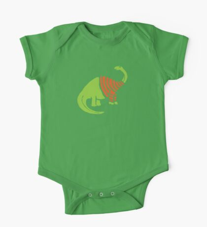 Brontosaurus in a Sweater  One Piece - Short Sleeve