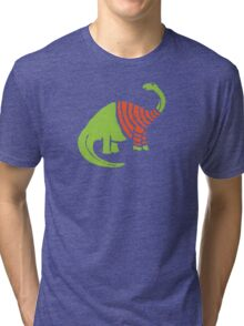 Brontosaurus in a Sweater  Tri-blend T-Shirt