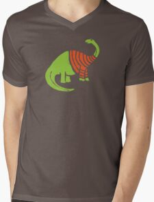 Brontosaurus in a Sweater  Mens V-Neck T-Shirt