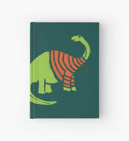 Brontosaurus in a Sweater  Hardcover Journal