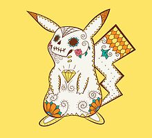 Pikachu Pokemuerto | Pokemon & Day of The Dead Mashup by abowersock