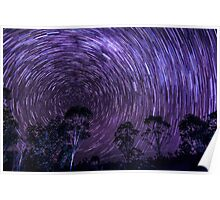 Silver Pinch Rd Startrails Poster