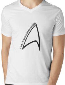 To boldly go... Mens V-Neck T-Shirt