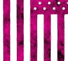 US Flag Grunge Style Sticker