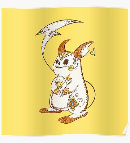 Raichu Pokemuerto | Pokemon & Day of The Dead Mashup Poster