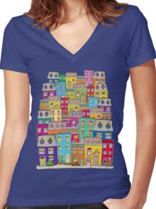 Way Downtown Women's Fitted V-Neck T-Shirt