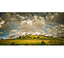 Clouds and a Hill Photographic Print