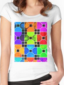 COLOUR TILED Women's Fitted Scoop T-Shirt