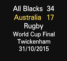 All Blacks / New Zealand 34-17 Australia rugby world cup final T-Shirt