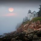 Lighthouse at Bass Harbor Maine No 65 by Randall Nyhof