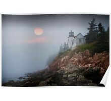 Lighthouse at Bass Harbor Maine No 65 Poster