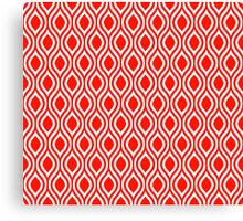 Modern Classic Red Pattern Canvas Print