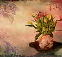 Vintage Tulips by Irene  Burdell