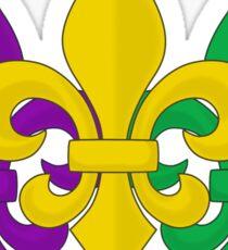 Mardi Gras Fleurs-de-Lis Sticker