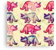 Team Triceratops Canvas Print