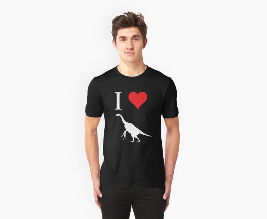 I Love Dinosaurs - Therizinosaurus (white design) by jezkemp