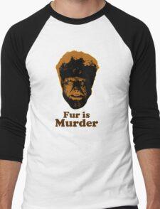 Fur is Murder Men's Baseball ¾ T-Shirt