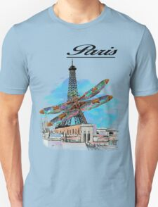 Paris Eiffel under attack dragonfly  unique vintage gifts  T-Shirt