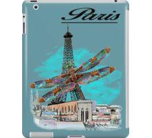 Paris Eiffel under attack dragonfly  unique vintage gifts  iPad Case/Skin