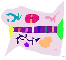 Various Things Abstract Art by masabo